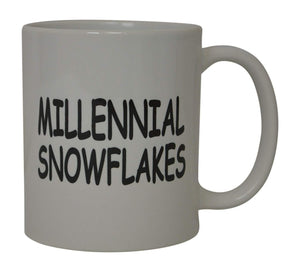 Funny Coffee Mug Millennial Snowflakes Political Novelty Cup Great Gift Idea For Republicans or Conservatives - Coffee Mugs - Rogue River Tactical  - Rogue River Tactical