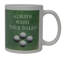 Best Funny Golf Coffee Mug Always Wash Your Balls Novelty Cup Joke Great Gag Gift Idea For Office Work Adult Humor Employee Boss Golfers - Coffee Mugs - Rogue River Tactical  - Rogue River Tactical