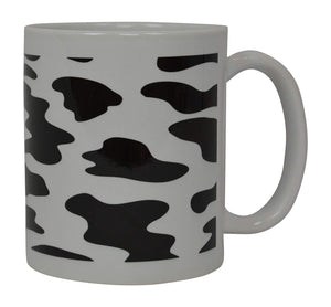 Best Coffee Mug Cow Print American Farm Novelty Cup Great Gift Idea For Women Office Work Adult Humor Employee Boss Coworkers - Coffee Mugs - Rogue River Tactical  - Rogue River Tactical