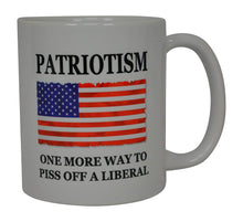 Republican Conservative Coffee Mug USA Flag American Patriotism One More Way to Piss Off A Liberal Novelty Cup Great Gift Idea For Men Dad Father Husband Military Veteran Conservative USA Flag - Coffee Mugs - Rogue River Tactical  - Rogue River Tactical