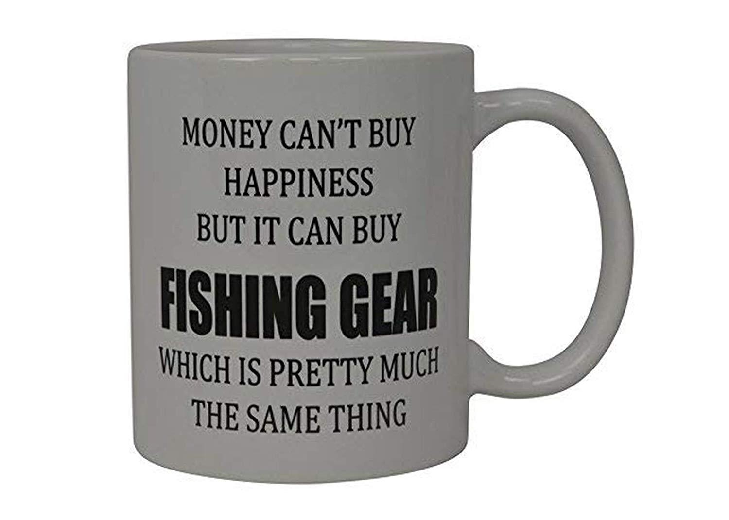 Life is Better on the River Retro Mug Fishing Gift for Him or Her Coffee Cup