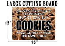 Funny Money Happiness Cookies Glass Cutting Board Decorative Gift For Grandma Mom Design - Cutting Boards - Rogue River Tactical  - Rogue River Tactical