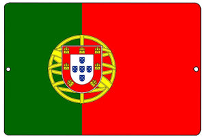 Portuguese Flag Metal Tin Sign Wall Decor Man Cave Bar Portugal - Flag Signs - Rogue River Tactical  - Rogue River Tactical