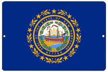 New Hampshire State Flag Metal Tin Sign Wall Decor Man Cave Bar NH - Flag Signs - Rogue River Tactical  - Rogue River Tactical