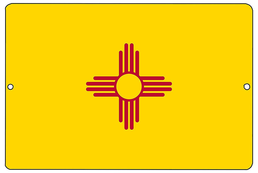 New Mexico State Flag Metal Tin Sign Wall Decor Man Cave Bar NM - Flag Signs - Rogue River Tactical  - Rogue River Tactical