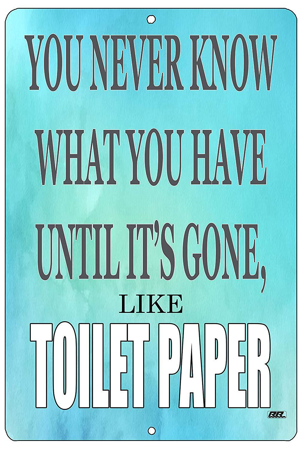 Funny Sarcastic Home Bathroom Metal Tin Sign Wall Decor Bar Toilet Paper - Funny Signs - Rogue River Tactical  - Rogue River Tactical