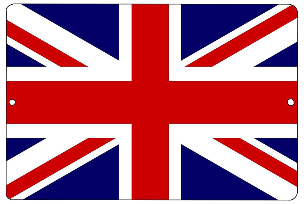 United Kingdom British Metal Tin Sign Wall Decor Man Cave Bar UK Union Jack - Flag Signs - Rogue River Tactical  - Rogue River Tactical