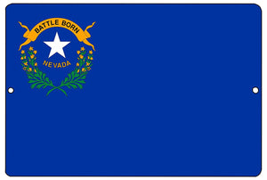 Nevada State Flag Metal Tin Sign Wall Decor Man Cave Bar NV  by Rogue River Tactical - Flag Signs - Rogue River Tactical  - Rogue River Tactical