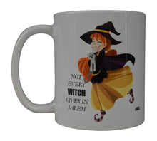 Funny Coffee Mug Happy Halloween Not Every Witch Lives In Salem Novelty Cup Great Gift Idea Halloween - Coffee Mugs - Rogue River Tactical  - Rogue River Tactical