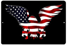 American Eagle USA Flag Tin Sign Wall Decor Man Cave Bar Patriotic - Patriotic Signs - Rogue River Tactical  - Rogue River Tactical