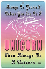 Funny Inspirational Quote Girls Metal Tin Sign Wall Decor Unicorn Bedroom Door Wall - Funny Signs - Rogue River Tactical  - Rogue River Tactical