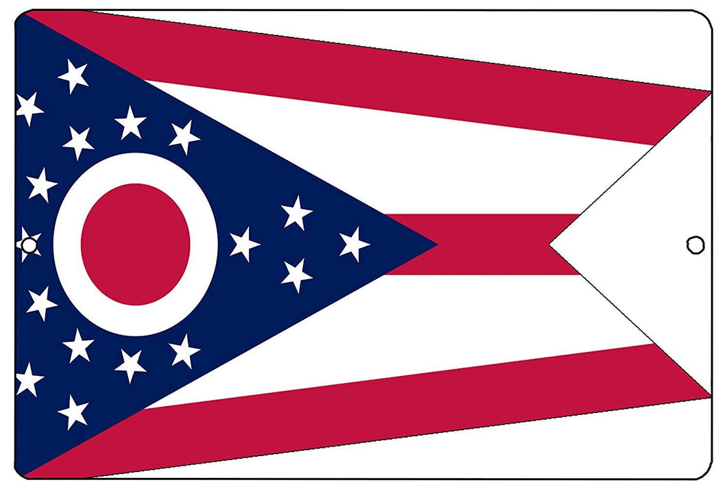 Ohio State Flag Metal Tin Sign Wall Decor Man Cave Bar OH - Flag Signs - Rogue River Tactical  - Rogue River Tactical