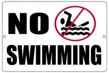 No Swimming Metal Tin Sign Business Retail Store Home Large Pool Hotel Motel - Business Signs - Rogue River Tactical  - Rogue River Tactical