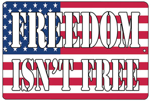 American Patriotic Metal Tin Sign Wall Decor Man Cave Bar USA Flag Freedom - Patriotic Signs - Rogue River Tactical  - Rogue River Tactical