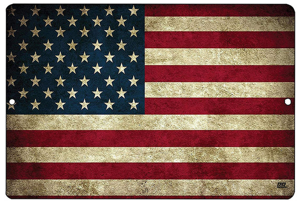 USA American Flag Metal Tin Sign Wall Decor Man Cave Bar US United States Rustic