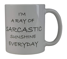 Funny Coffee Mug I'M A Ray Of Sarcastic Sunshine Everyday Novelty Cup Great Gift Idea For Office Party Employee Boss Coworkers - Coffee Mugs - Rogue River Tactical  - Rogue River Tactical