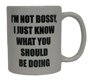 Funny Coffee Mug I'M Not Bossy I Just Know Novelty Cup Great Gift Idea For Office Party Employee Boss Coworkers - Coffee Mugs - Rogue River Tactical  - Rogue River Tactical