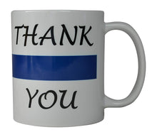 Coffee Mug Blue Lives Matter Thank You Blue Line Novelty Cup Great Gift Idea For Police Officer Law Enforcement PD - Coffee Mugs - Rogue River Tactical  - Rogue River Tactical