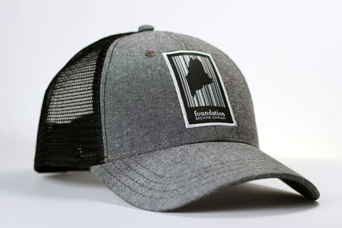 Chambray Barcode Trucker