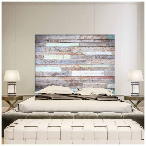 Painted Rustic Wood - King Size Headboard