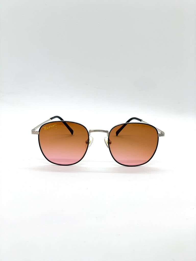 Light brown retro glasses fom the front