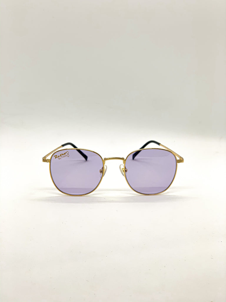 Violet retro glasses fom the front