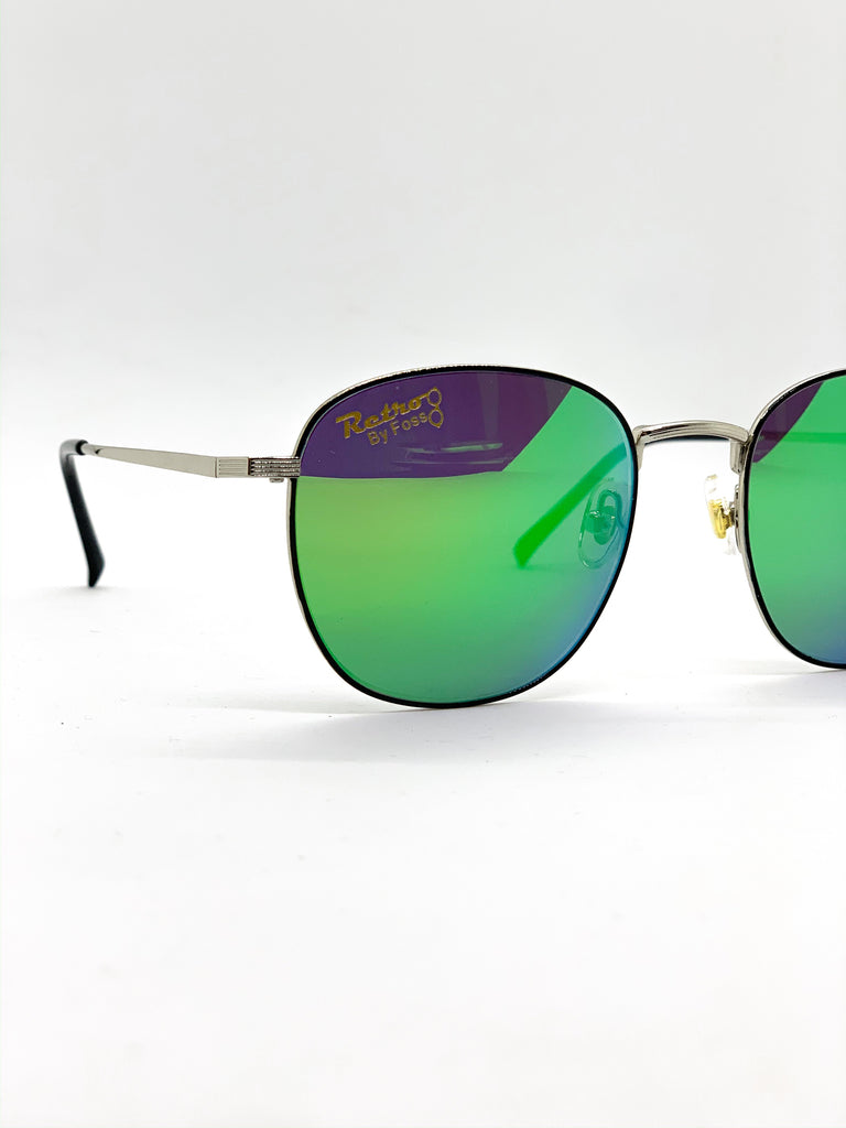 Flash green glasses detail