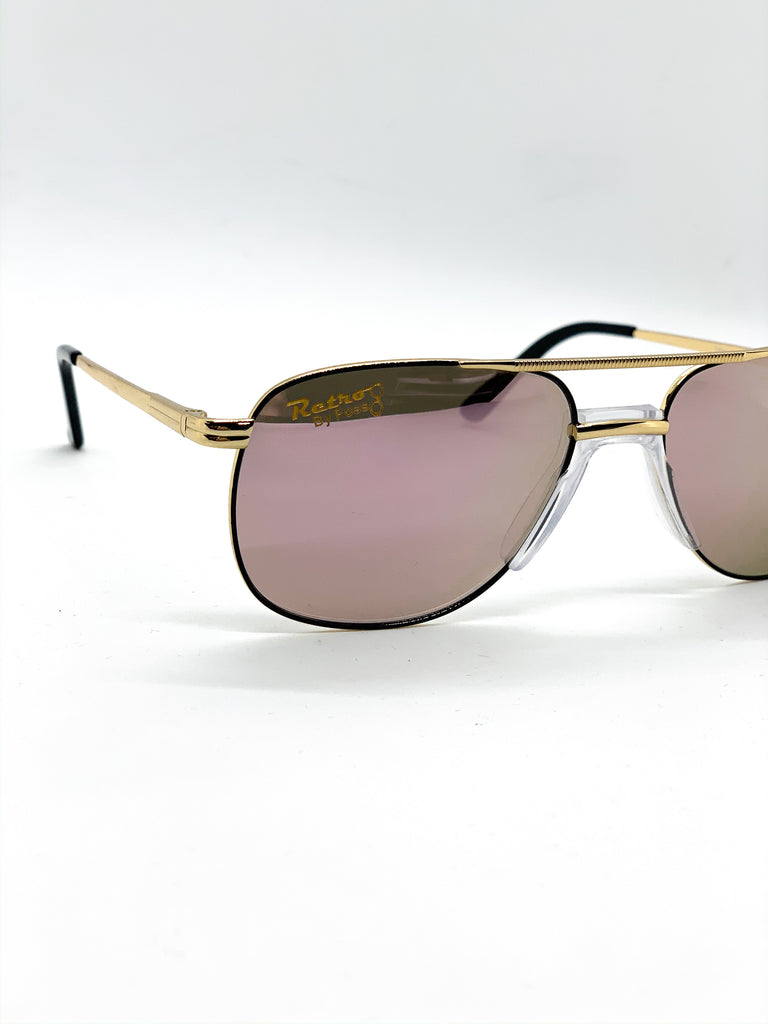 Flash pink retro glasses detail