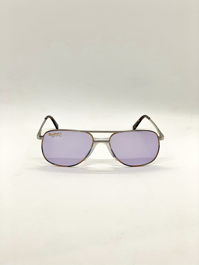 Light violet retro glasses fom the front