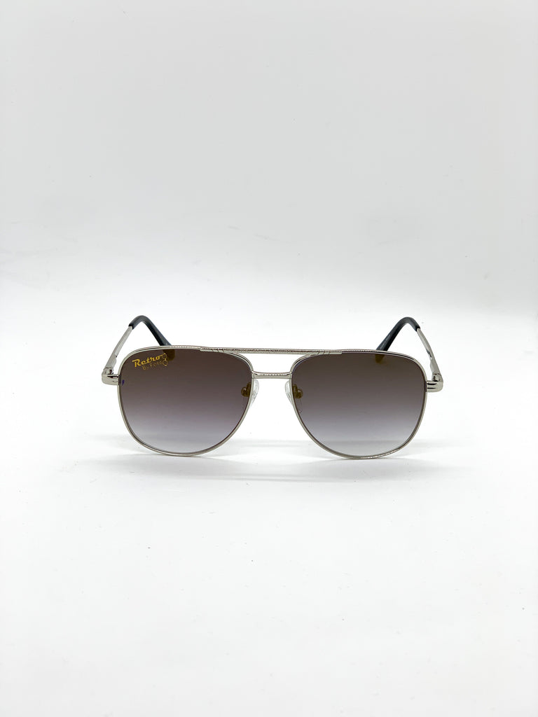 Brown retro glasses fom the front
