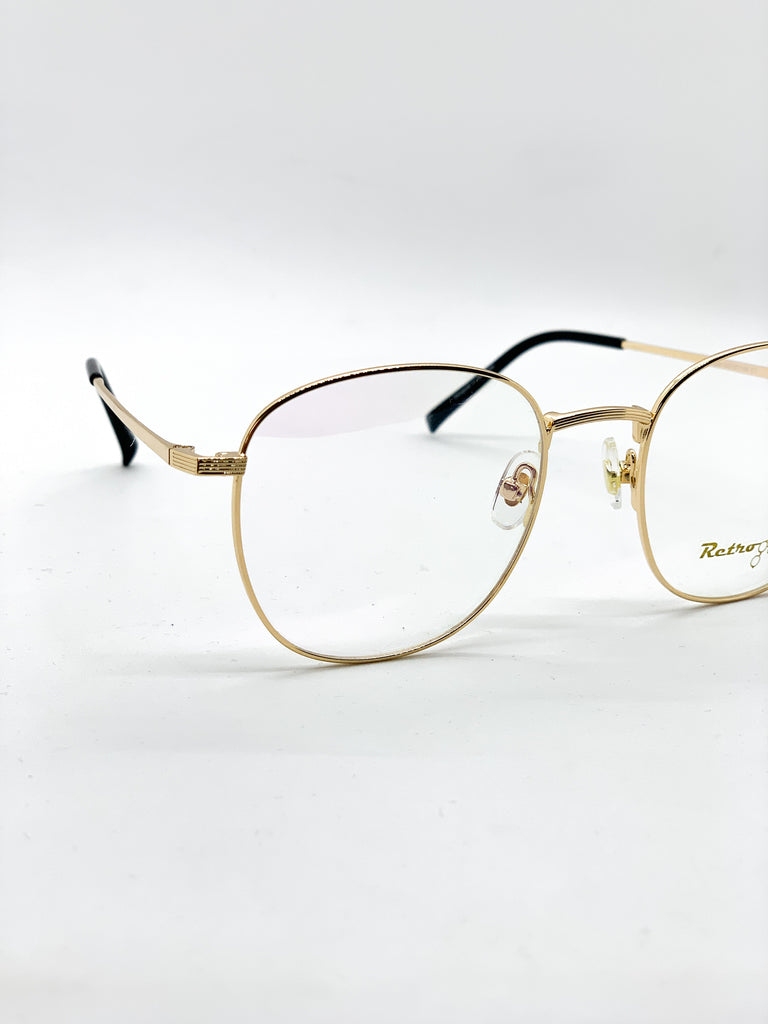 Gold retro glasses detail