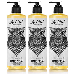 <span>Cedar + Sandalwood</span><br><span> Hand Soap TRIO</span> (Save 50%)