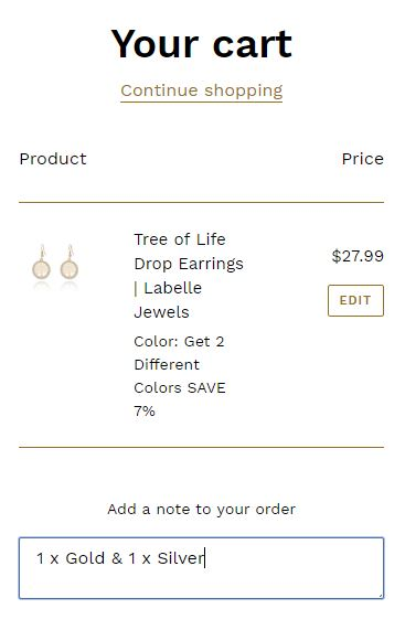 Shopping Cart | Labelle Jewels