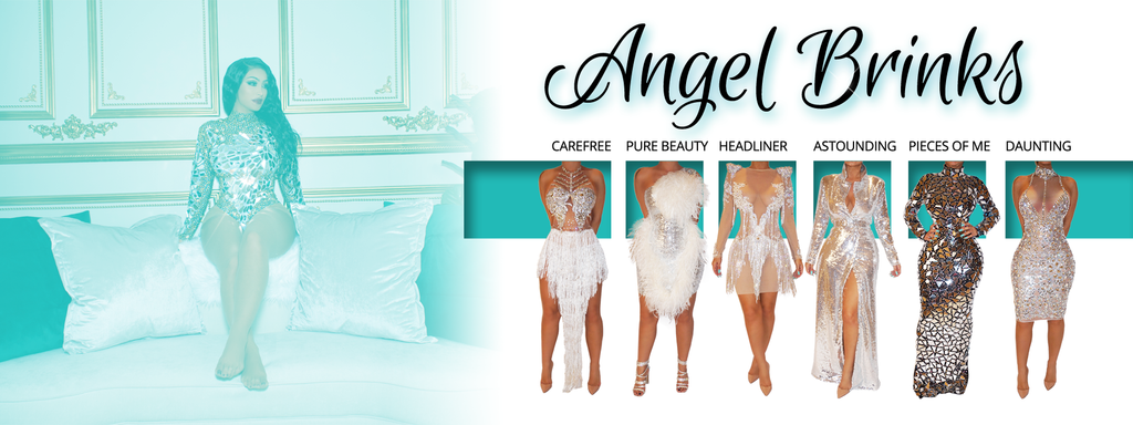 Shop dresses from Angel Brinks
