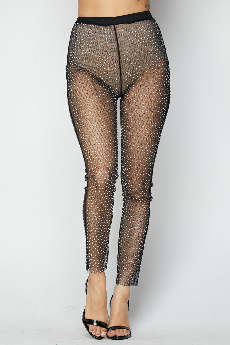 Fishnet Stoned Pants