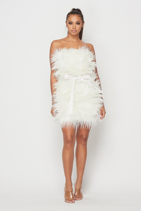 Shaggy Faux Fur Dress