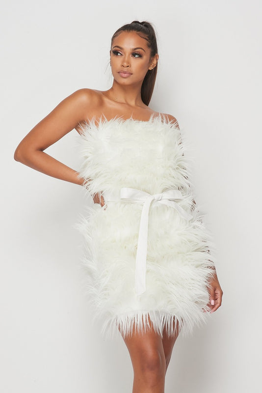 Alternative image for Shaggy Faux Fur Dress