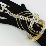 Crystal Cross Bracelet (Gold)