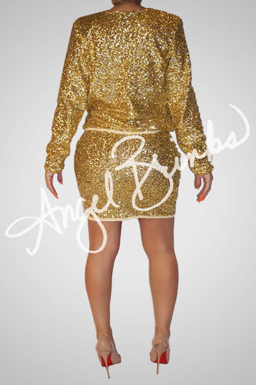 Glisten Skirt Set (Gold)