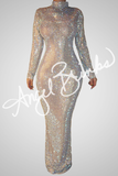 Glorious Shine Dress (Nude) - Thumbnail