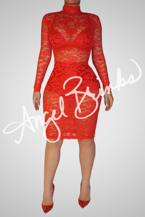 Fashion Bomb Classic (Red Lace)