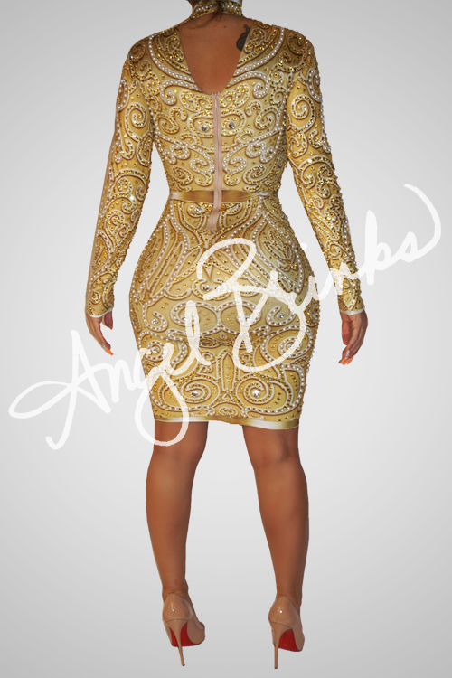 High Society Dress (Gold)