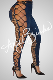 Sinister Jeans (Animal Lace) - Thumbnail