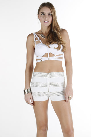 Strappy Bralet Top (Top Only) White