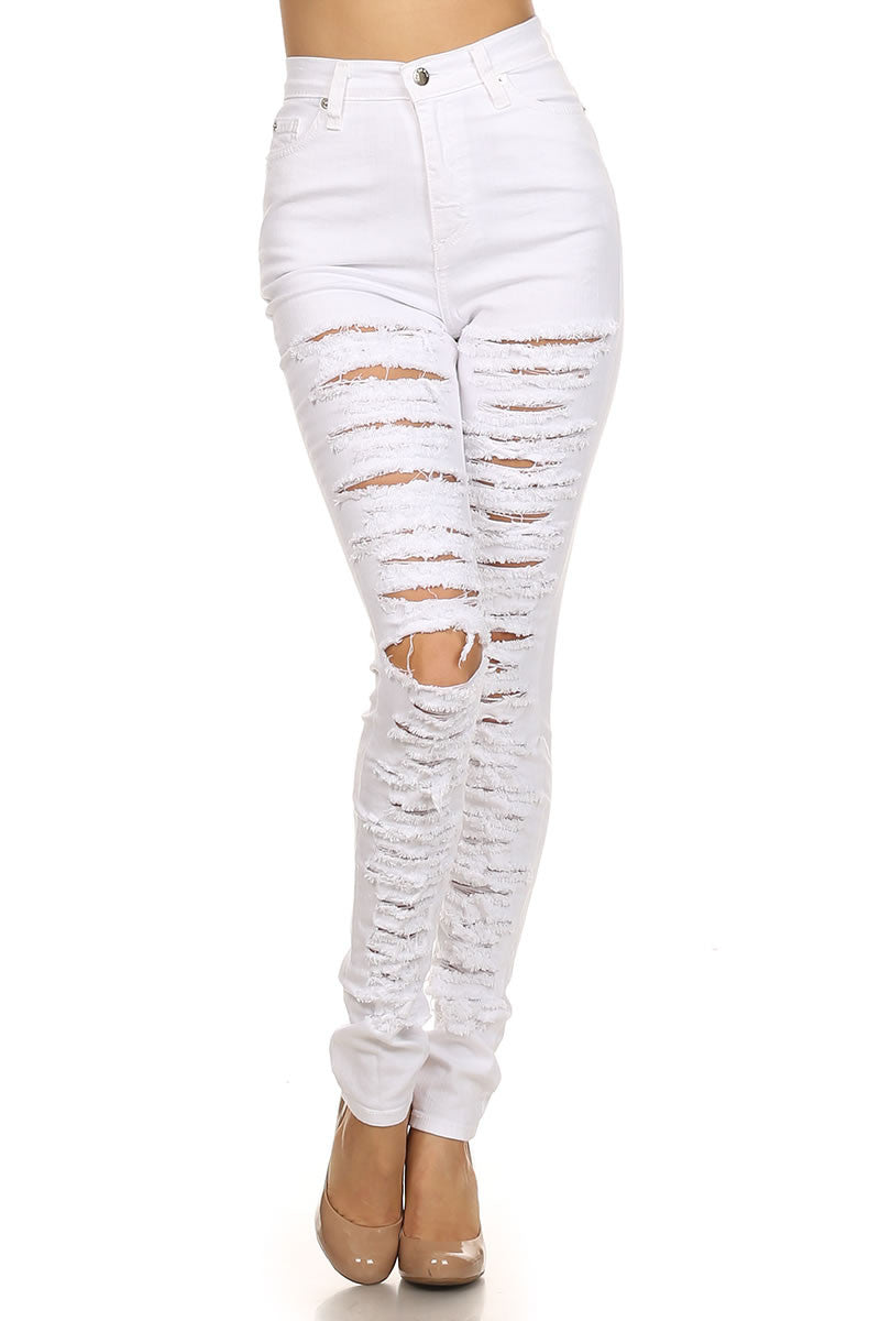 White Synch Jeans