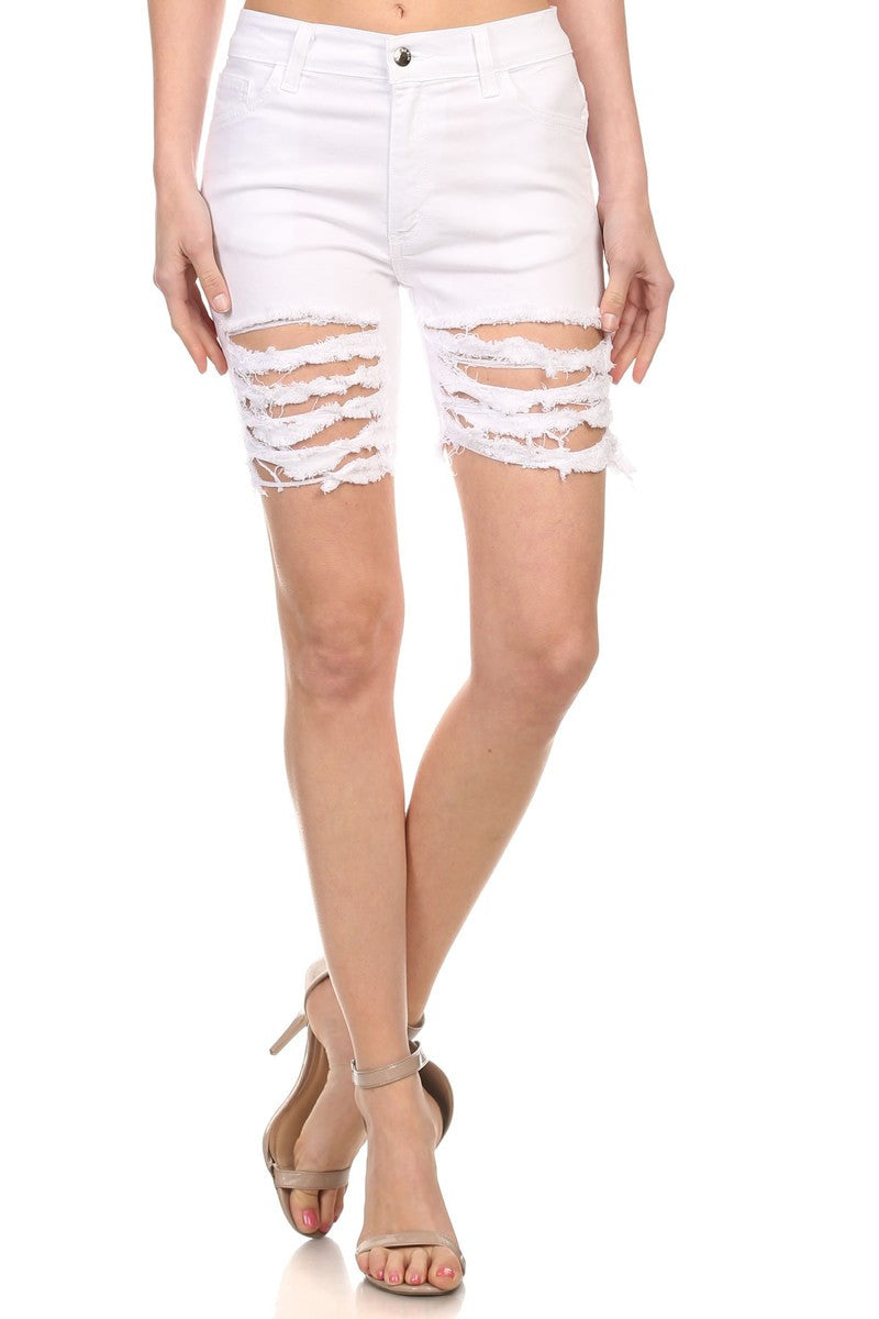 Bermuda White Shorts