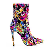 Pretty Floral Boots - Thumbnail