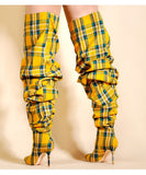 Plaid Boots (Yellow) - Thumbnail