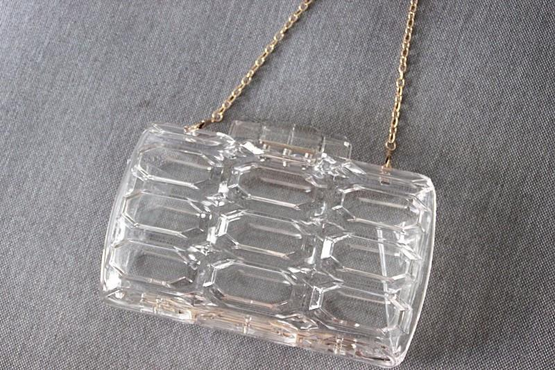 Vintage Clear Clutch