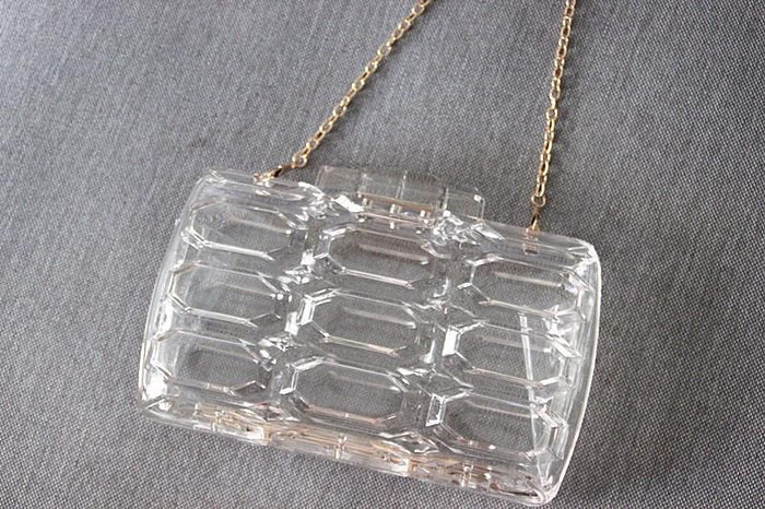 Alternative image for Vintage Clear Clutch